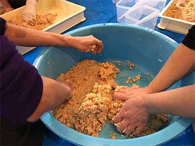 キトテノワx島光 味噌作りワークショップ2019-02-21